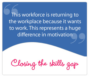 This workforce is returning to the workplace because it wants to work. This represents a huge difference in motivation